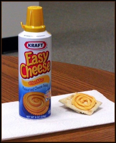 aerosol cheese