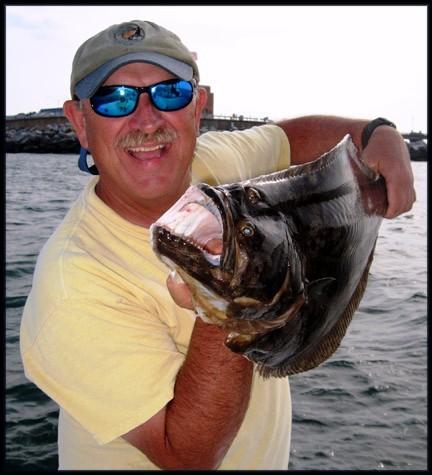 holding flounder