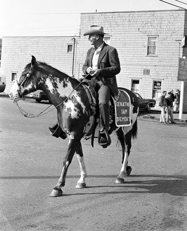 Senator Sam Dement, 1972 Cranberry Festival parade