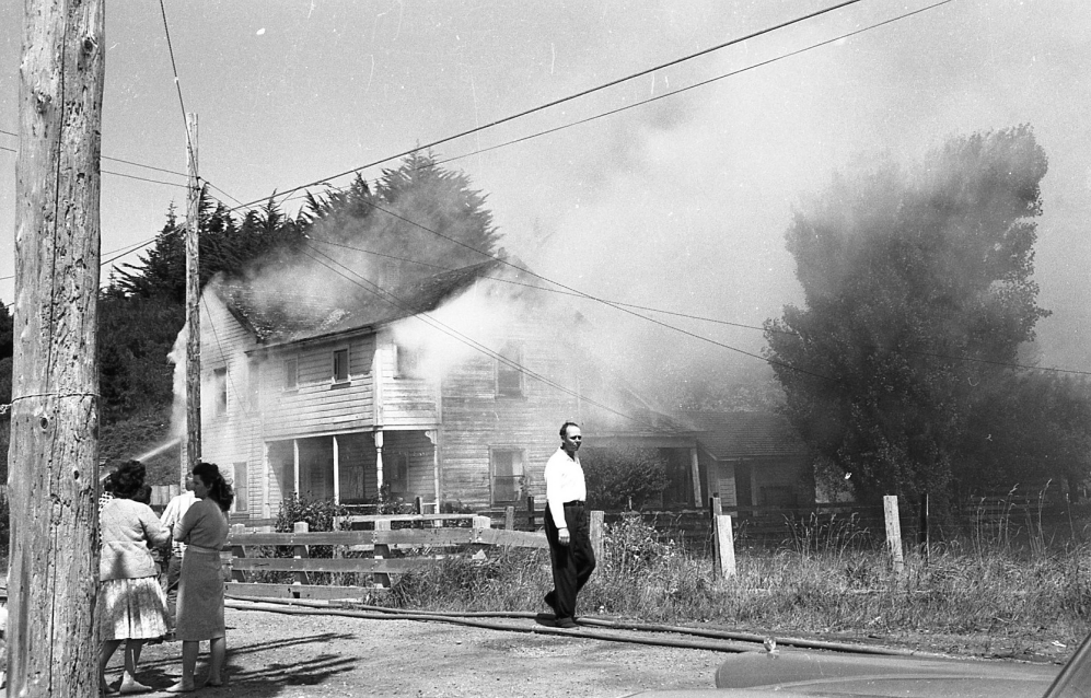 House fire on Creek Street, 1962