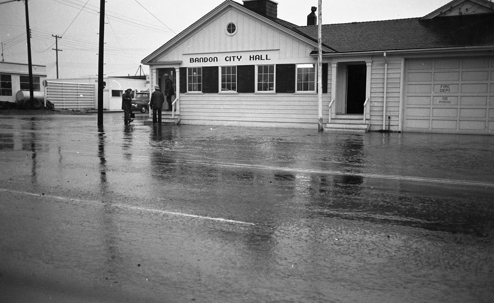 City Hall during the flood of 1961