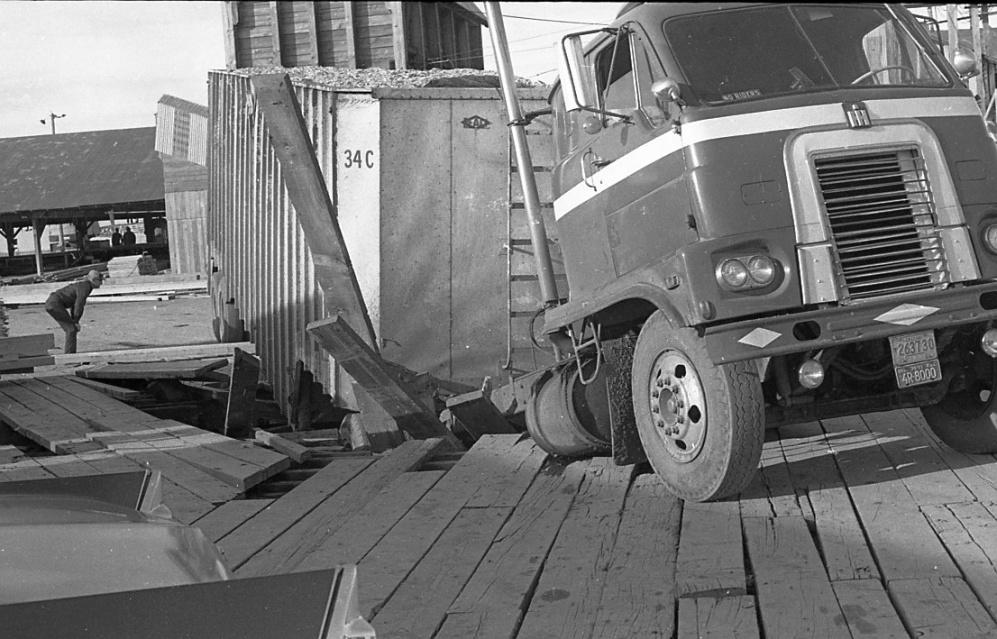 Moore Mill & Lumber Co. dock, 1971