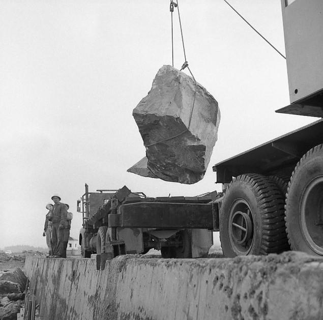 Repairing North Jetty, 1956