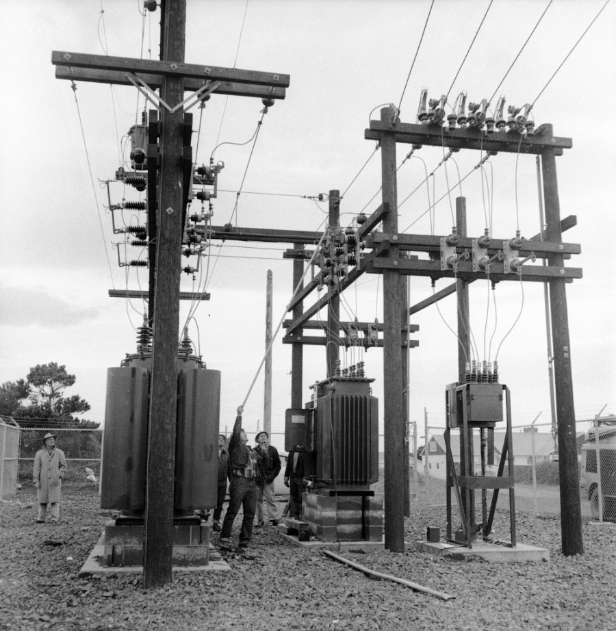 West Bandon substation, 1957