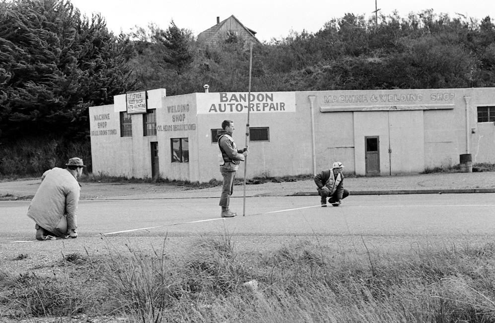 Surveying Highway 101, 1966