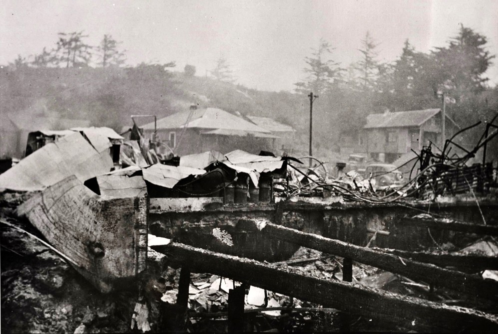 Bandon Cheese Factory after the fire