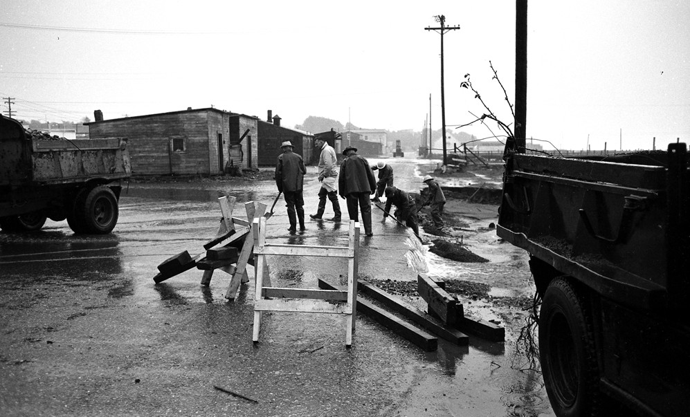 First Street during the flood of 1961