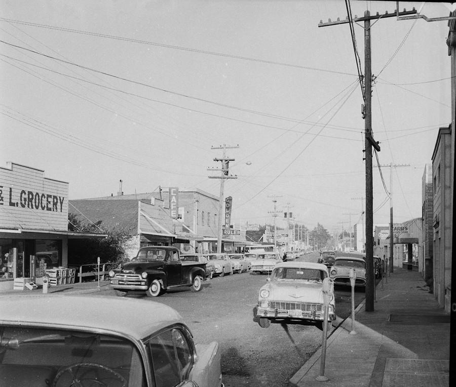 Downtown Bandon, 1956