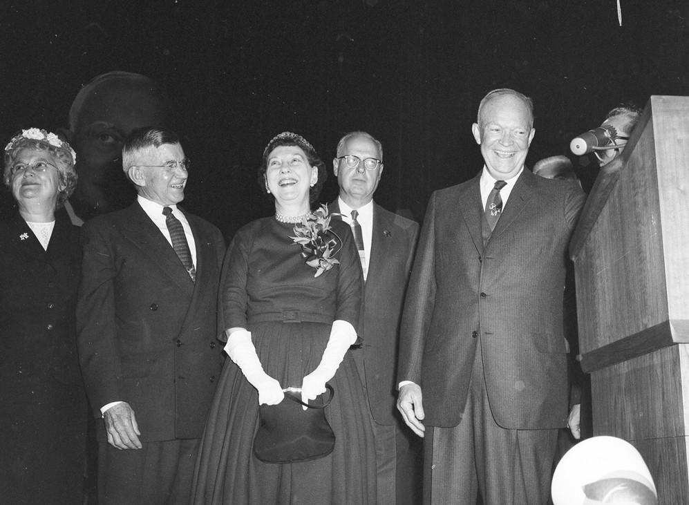 President Eisenhower visits Portland, 1956