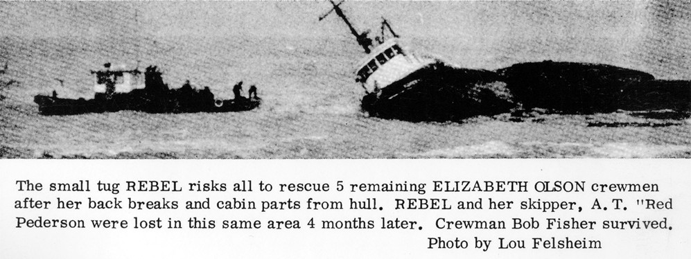 The wreck of the Elizabeth Olson
