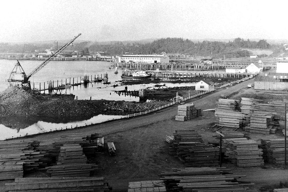 Bandon waterfront, 1958
