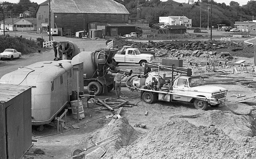 Building Bandon's sewage treatment plant 1970