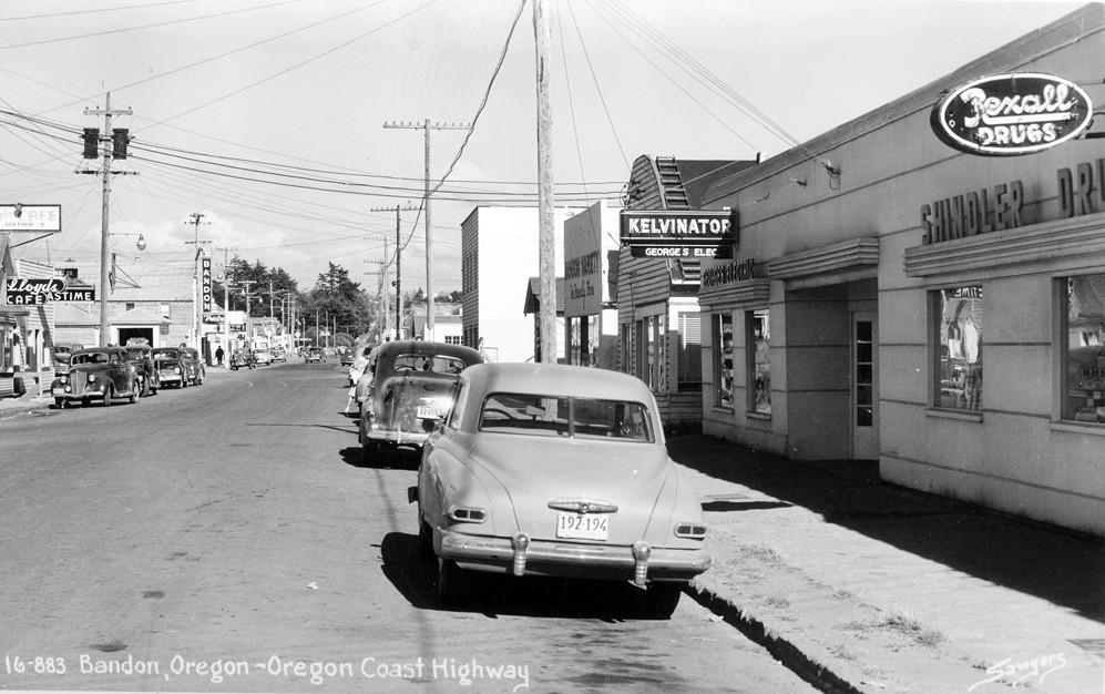 Downtown Bandon, late '40s or early '50s