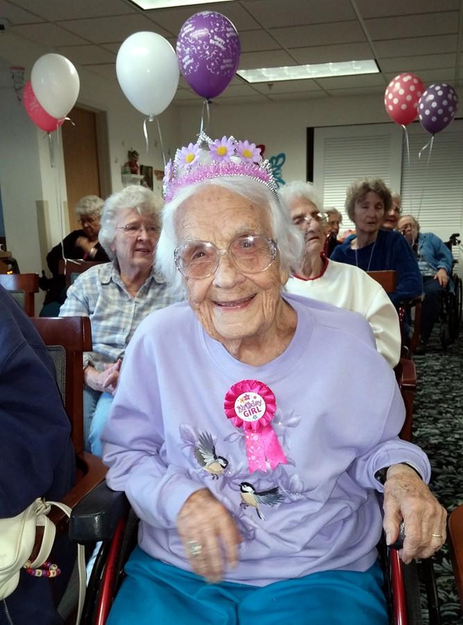 Marie Douglass 105th birthday