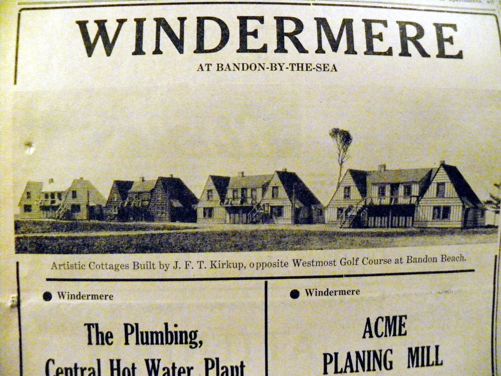 Windermere at Bandon-By-The-Sea, 1937
