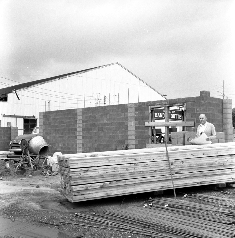 Expanding the cheese factory, 1959