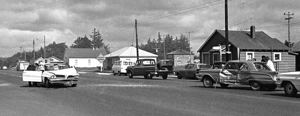 Auto accident, 1960s