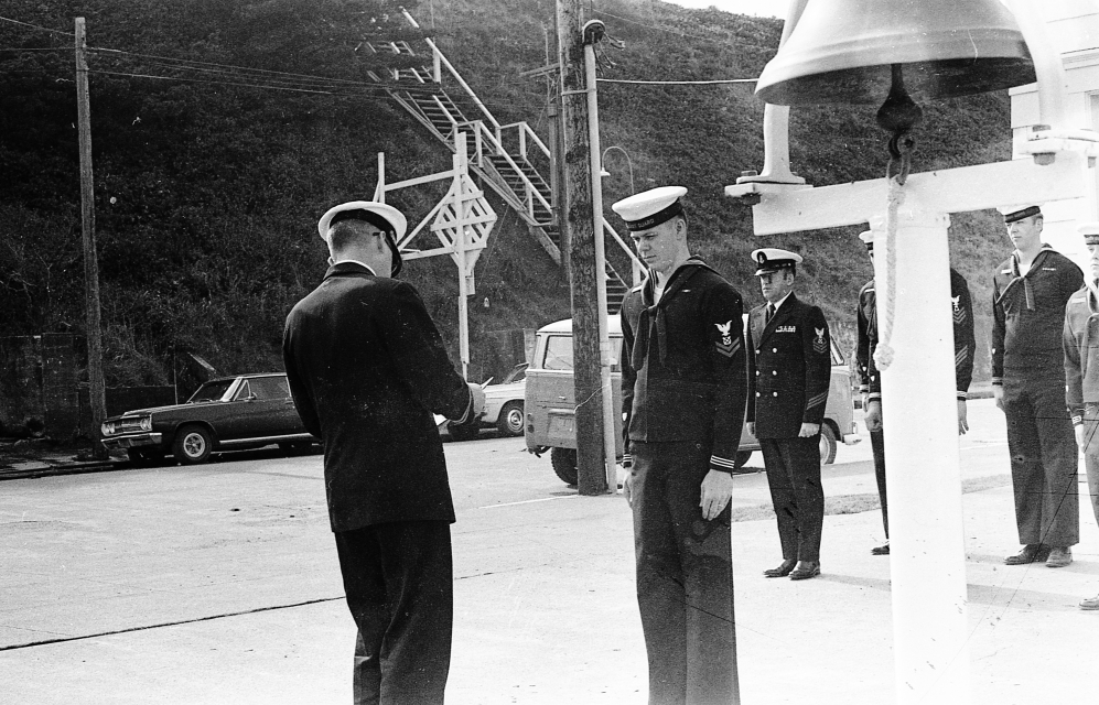 Inspection of Coast Guard Station, 1970