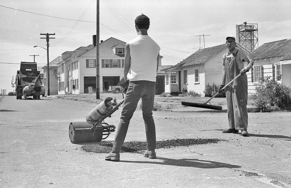 Patching First Street, 1970