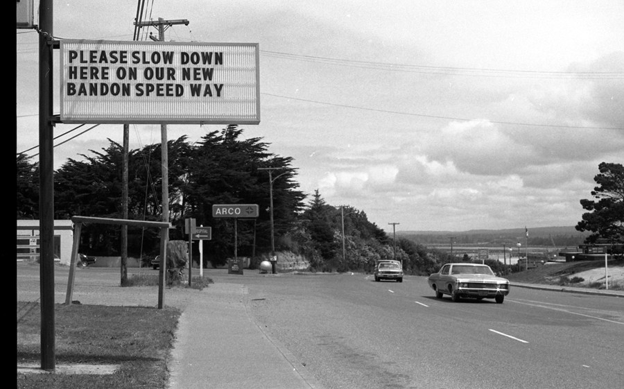 Highway 101 and 8th street, 1975