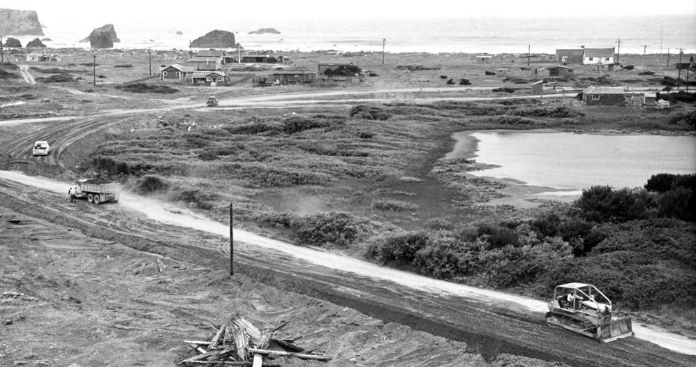 Jetty road construction, 1960s