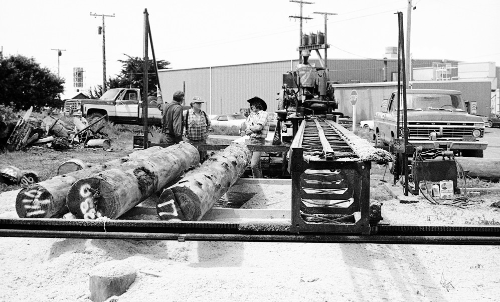 Jim Perry's portable sawmill