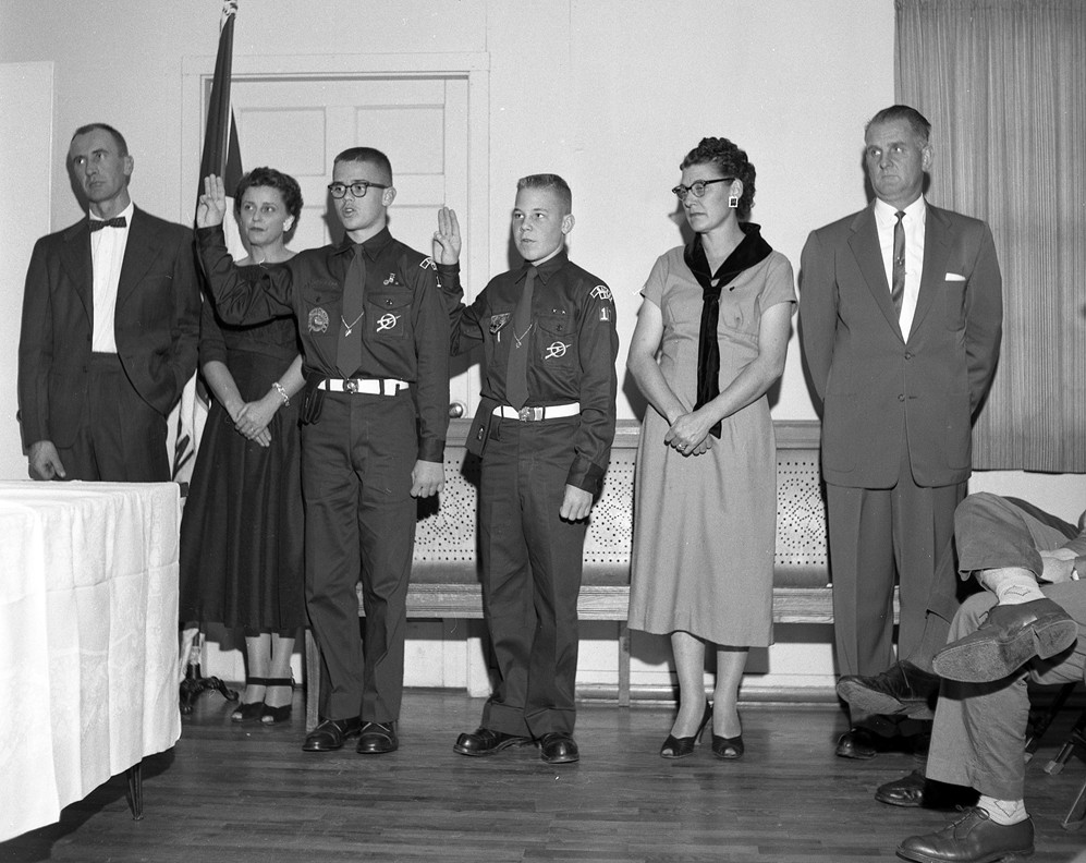 Boy Scout Court of Honor, 1958