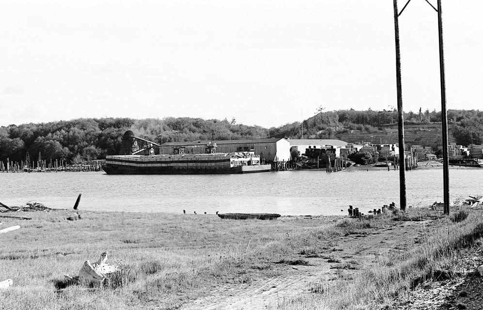 Barge at Rogge Lumber, 1966