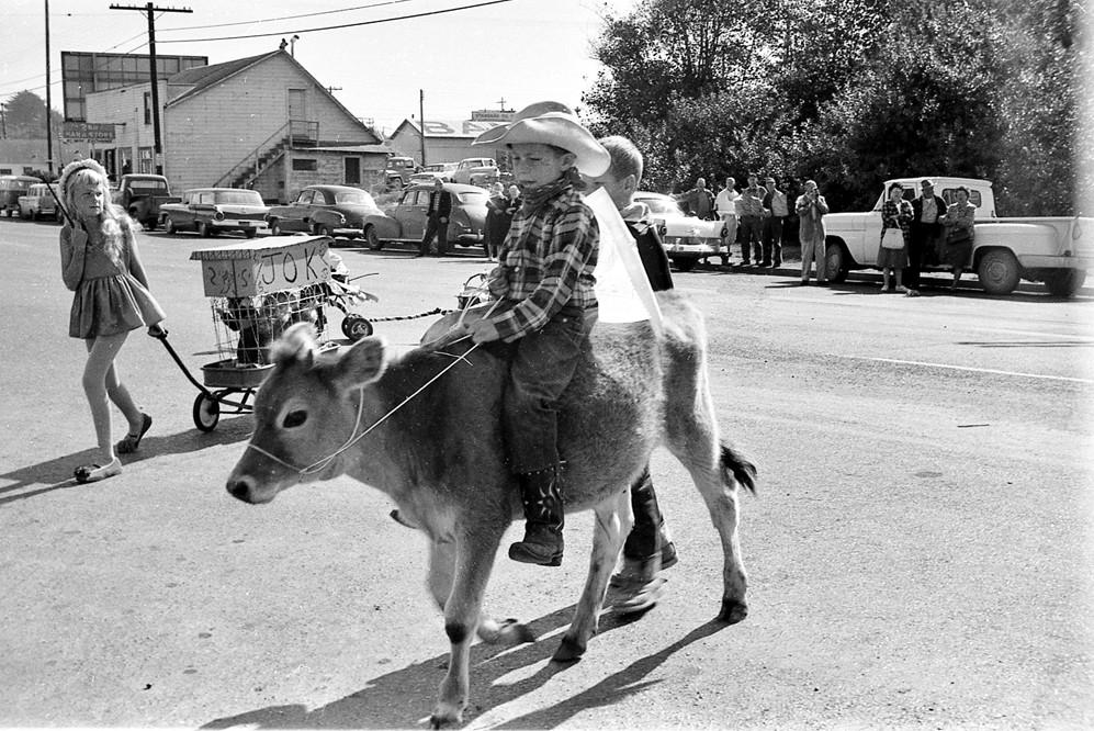 Cranberry Festival parade, 1950s