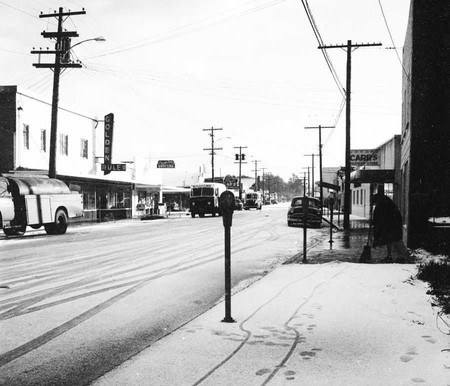 2nd Street on a Snowy day, Dec 1956