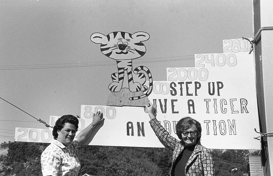 Connie Cooper and Dorothy Harris Waldrop, 1973