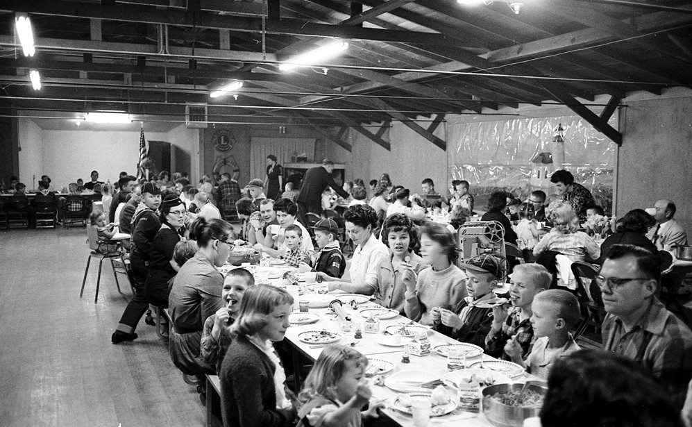 Cub Scout event in The Barn, 1963