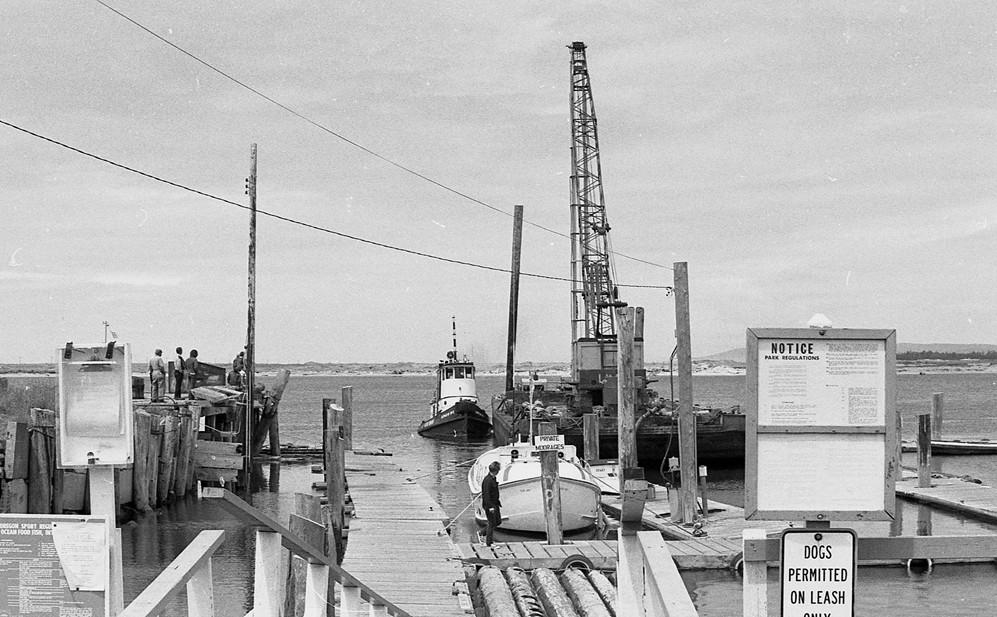 Port of Bandon dock, 1975