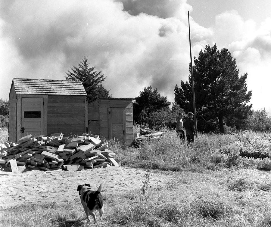 Gorse fire 1957