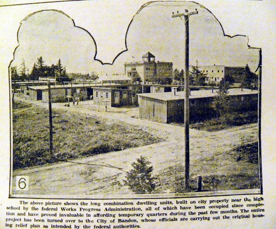 Temporary housing, 1937