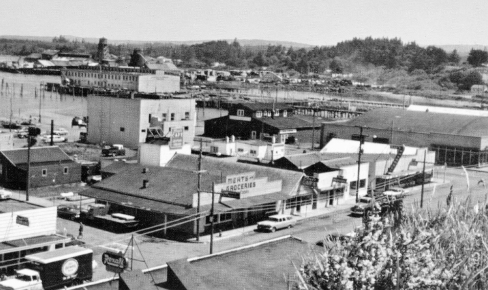 Downtown Bandon, 1956
