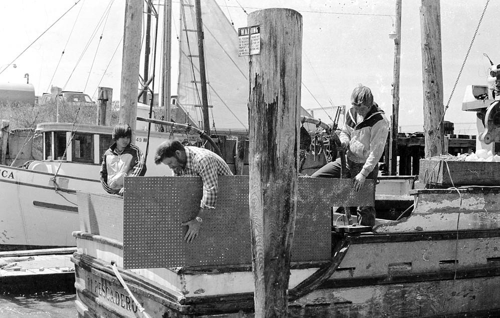 Ken Butler's boat, the Pescadero, 1980