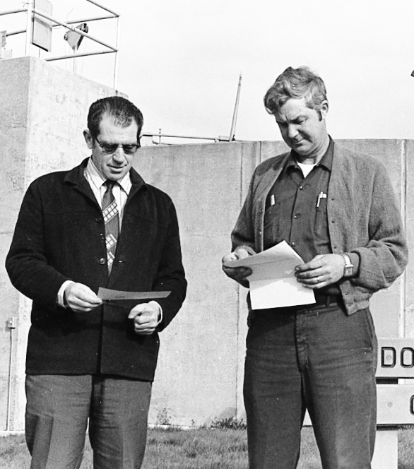 City Manager Bill Donahue and Mayor Don Goddard, 1973