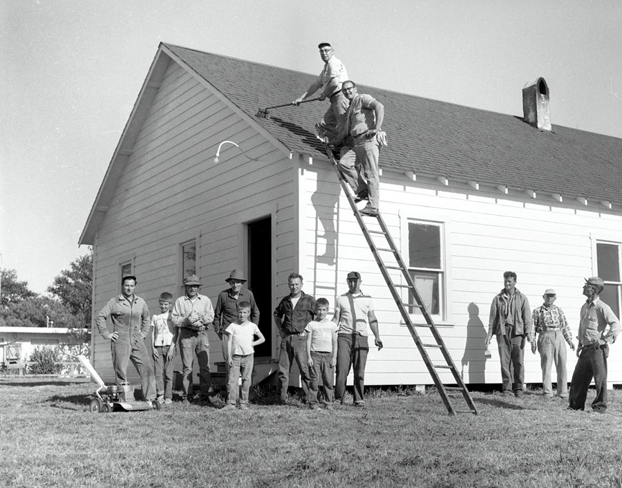 Union Hall work party 1958