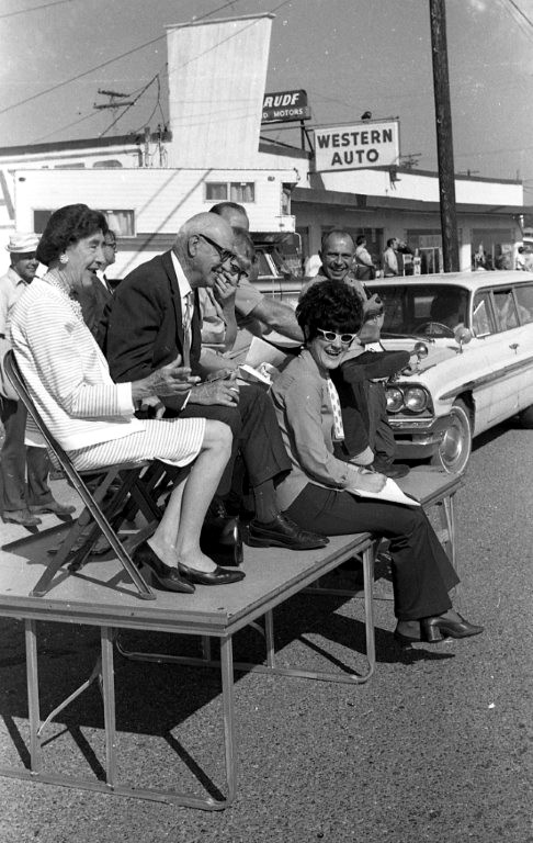 Judging the Cranberry Festival Parade, 1970