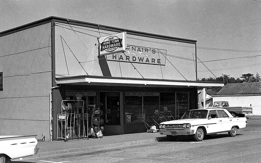McNair Hardware store, 1975
