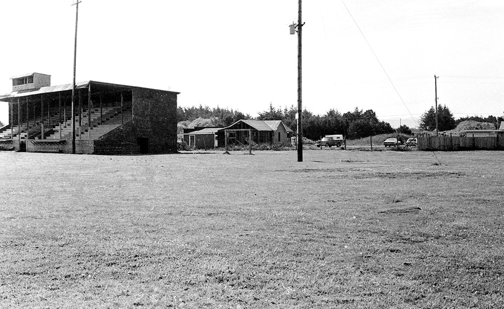 Old grandstand at Dave Miller Field