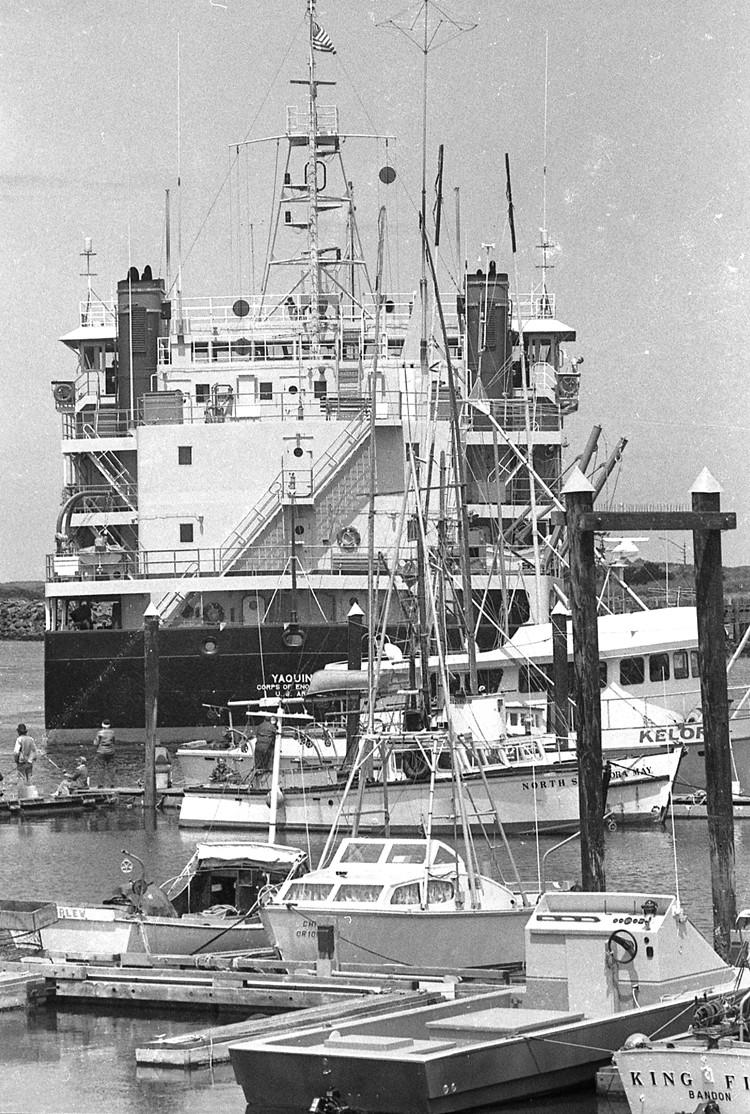The dredge Yaquina, 1981