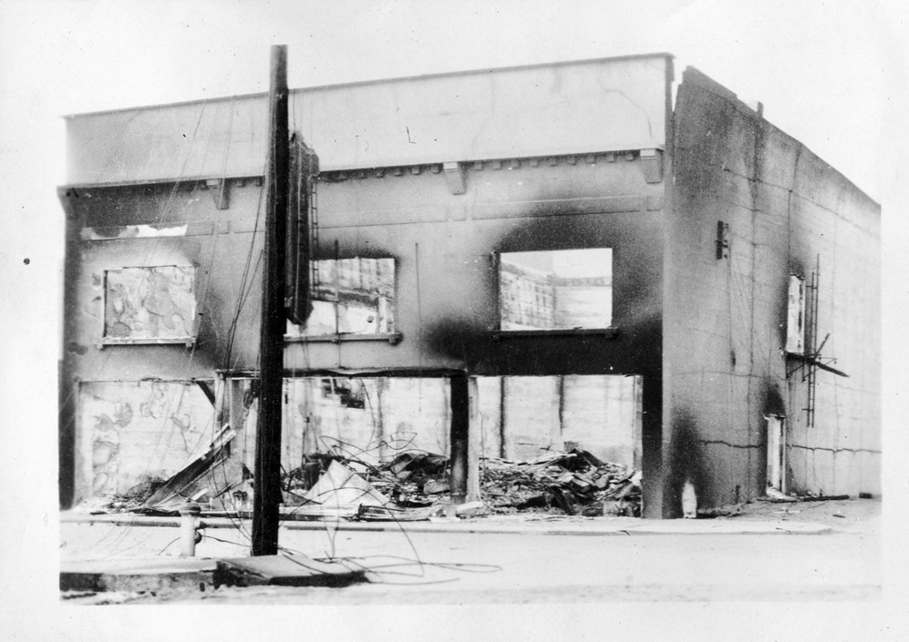 Hartman Theatre after the fire