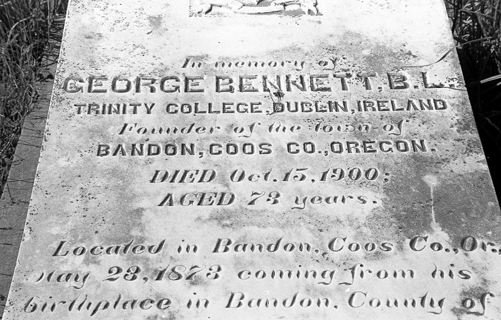 George Bennett's tombstone