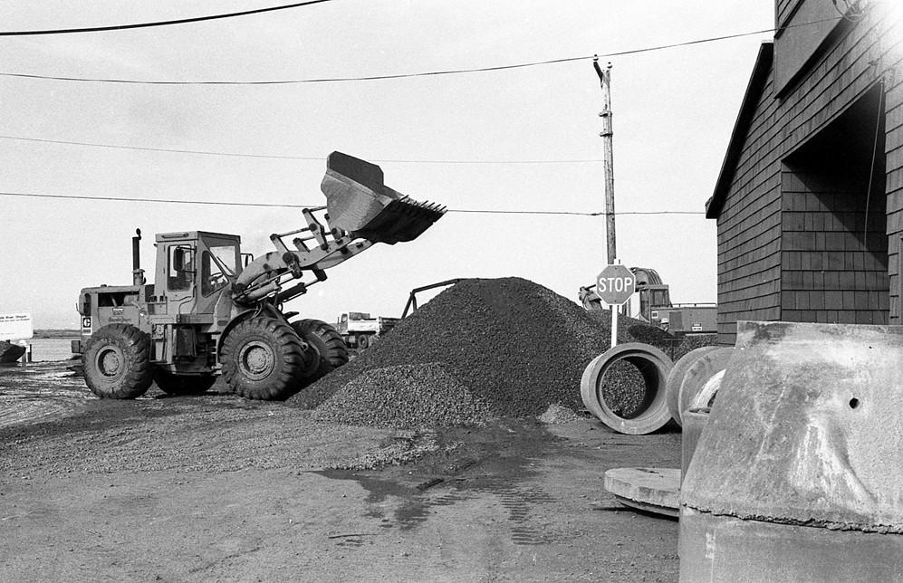 Filling a sinkhole, early '80s