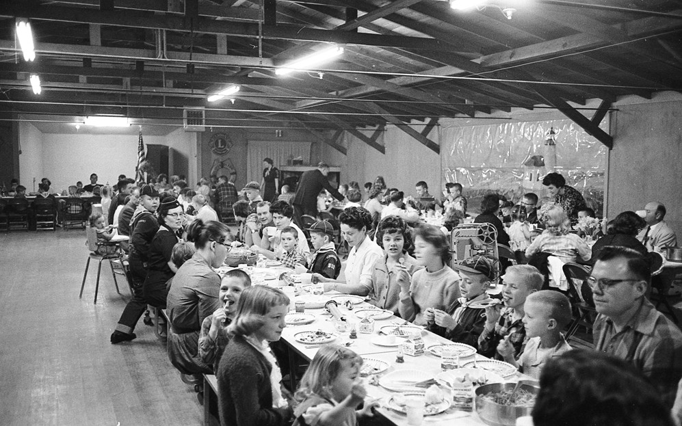 Cub Scout Blue and Gold dinner, 1963