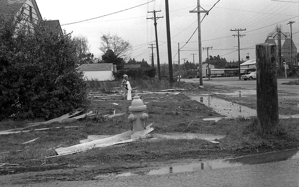 After a big storm at 11th and Elmira