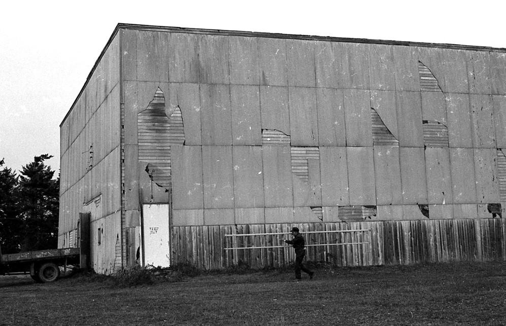 Old gymnasium in east Bandon, 1980