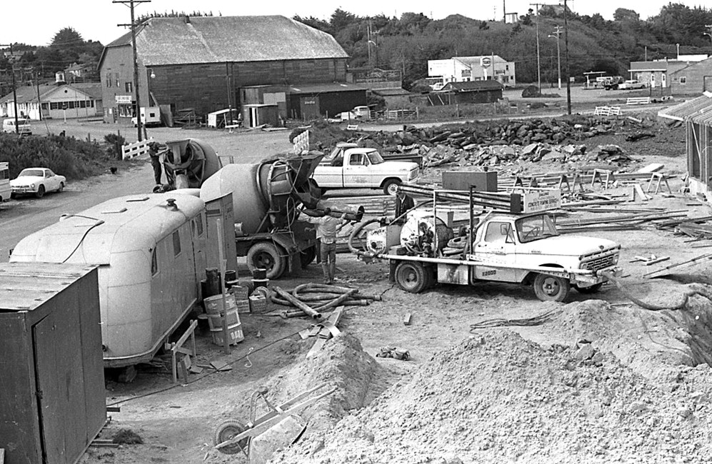 Construction of the wastewater treatment plant, 1970